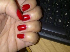 Spot the sad chippy nail