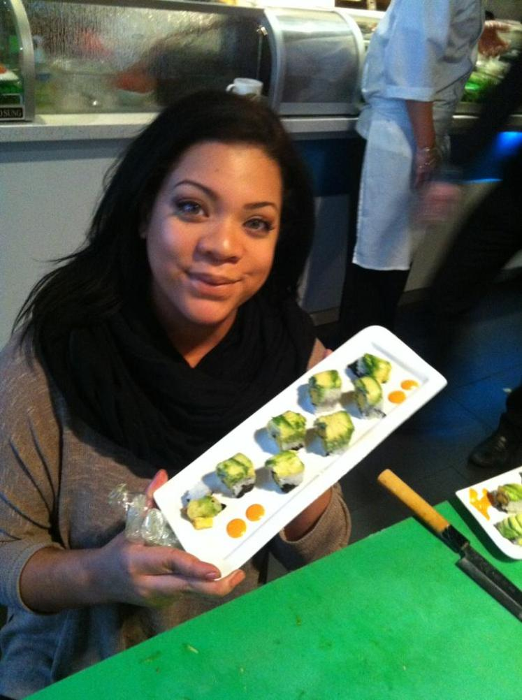 Ash with sushi