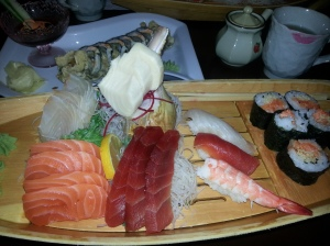 Gonoe sushi and sashimi