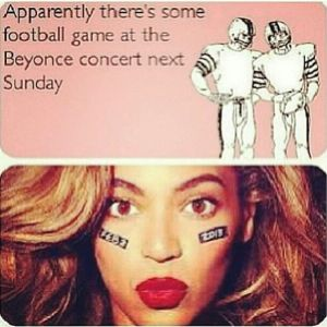 Beyonce vs football