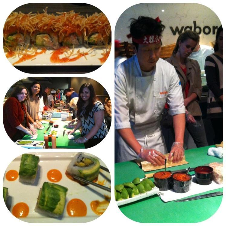 We make sushi!