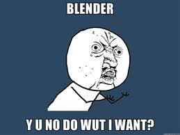 blender blunder