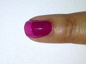 Fuscia french manicure