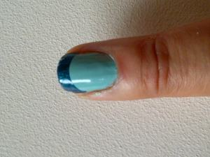 Teal french manicure