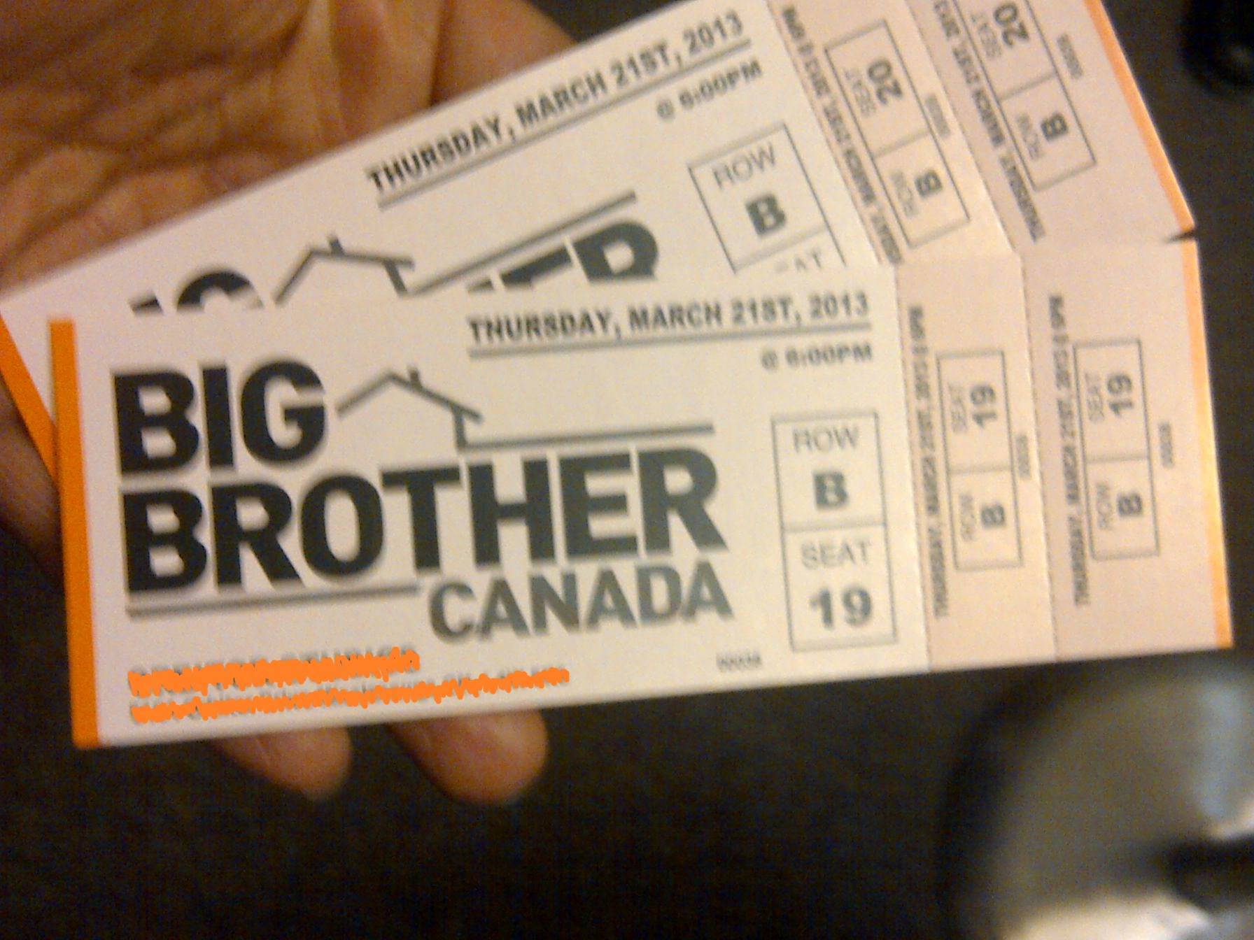 big brother tickets