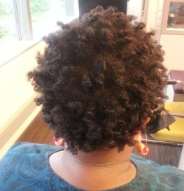 Shea Moisture curling souffle results day 2