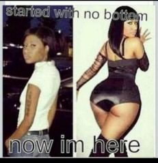 started with no bottom