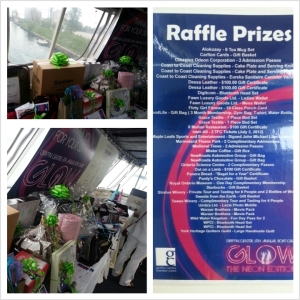 Griffin Centre - glow boat cruise raffle prizes