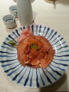 Sushi Kai salmon sushi pizza