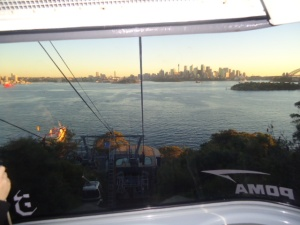 CAble car ride to ferry, Taronga Zoo