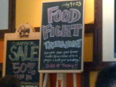Food Fight Trivia Night sign