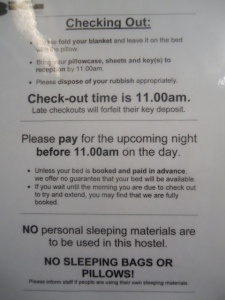 BIG Hostel rules