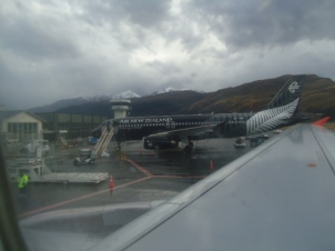 Arriving at Queenstown Airport