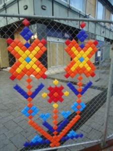 Coloured block art, Christchurch New Zealand
