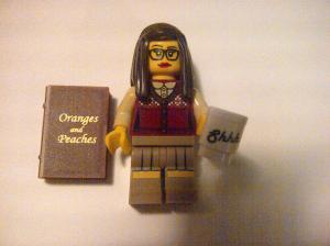 Lego librarian minifigure