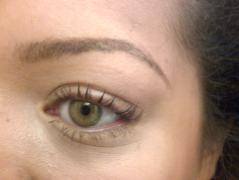 finished brow with Rimmel eyebrow pencil