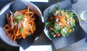 Lisa Marie - Pad Thai fries and salad