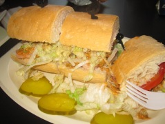 shrimp po-boy from the Court Tavern