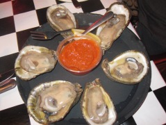 raw oysters at Acme