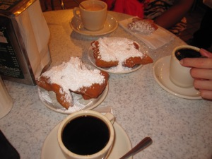 Beignets at Cafe DuMonde in New Orleans