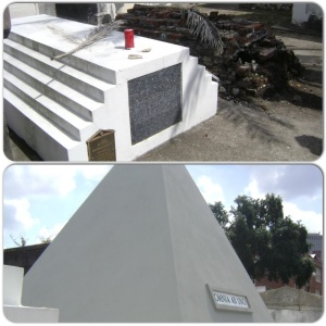 Top: Difference between a tomb that has been maintained and one that has not. Bottom: Nicholas Cage's tomb.