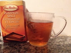 Tim Horton's Pumpkin Spice tea