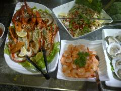 seafood at Whiteside's Terrace