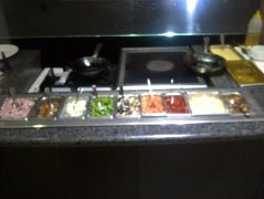 omlette station at Whiteside's Terrace