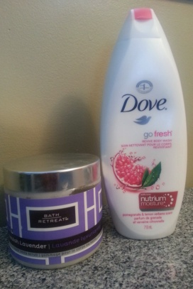 Bath retreats and dove go fresh