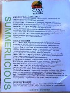 Casa Manila - Toronto - summerlicious menu (3)