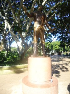 Statue of Governor Macquarie in Hyde Park