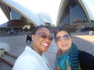 Outside the Sydney Opera House