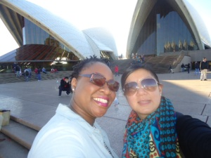 Outside the Sydney Opera House