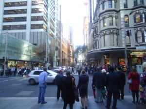 The streets of Sydney, NSW