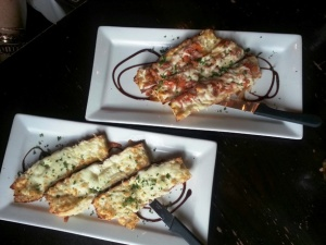 Hey Lucy Bruschetta and Garlic Bread