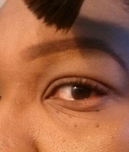 Eyebrow tutorial (8) - apply foundation