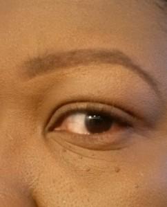 Eyebrow tutorial (9) - apply foundation