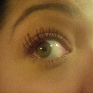 2 coats They're Real curled lashes
