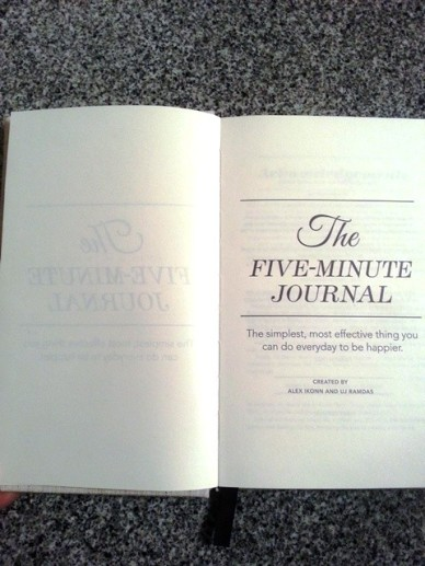 The Five Minute Journal open