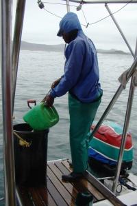 Shark lady crew member